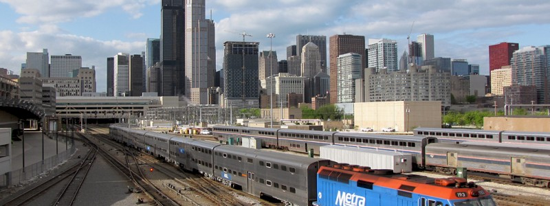 http://commons.wikimedia.org/wiki/File:Metra_Train_in_Chicago.jpg